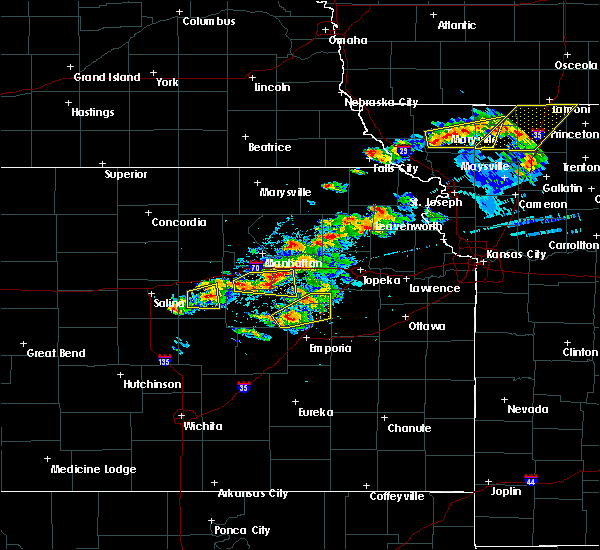 Radar Image for Severe Thunderstorms near Bushong, KS at 5/14/2020 8:23 PM CDT