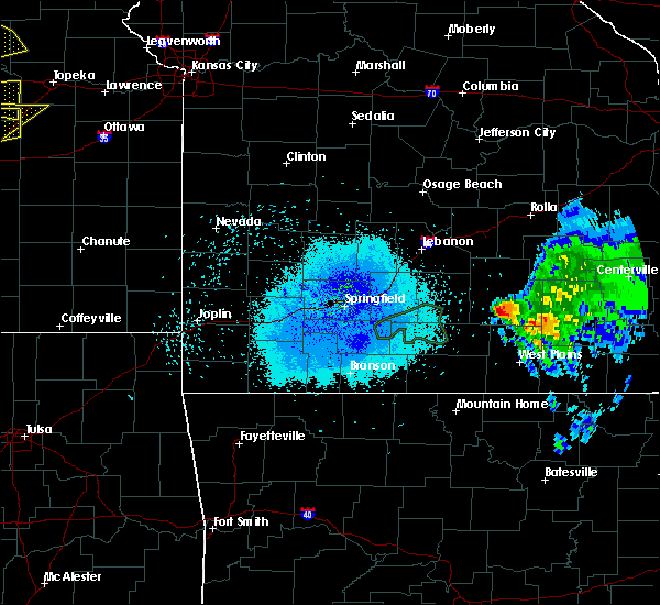 Radar Image for Severe Thunderstorms near Summersville, MO at 5/14/2020 8:44 PM CDT