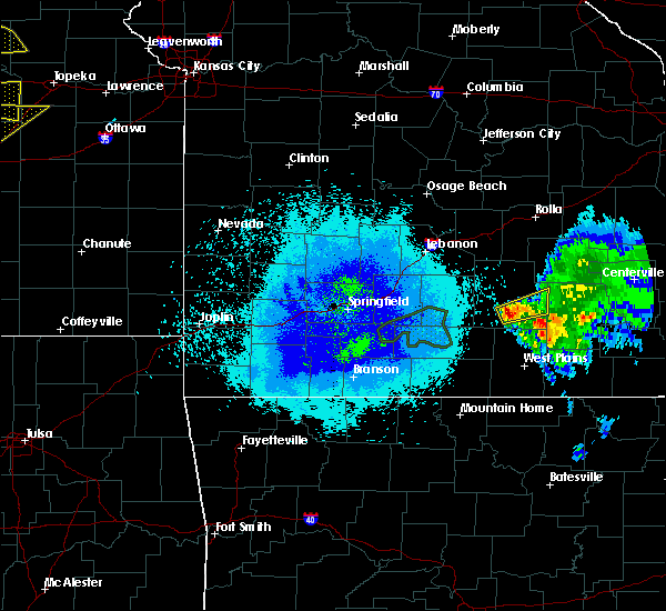 Radar Image for Severe Thunderstorms near Summersville, MO at 5/14/2020 8:56 PM CDT