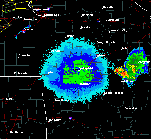 Radar Image for Severe Thunderstorms near Summersville, MO at 5/14/2020 9:12 PM CDT