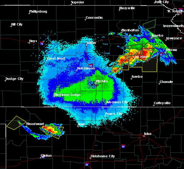 Radar Image for Severe Thunderstorms near Cassoday, KS at 5/14/2020 10:25 PM CDT