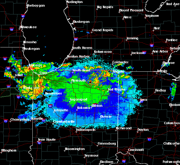 Radar Image for Severe Thunderstorms near Kimmell, IN at 5/14/2020 11:56 PM EDT