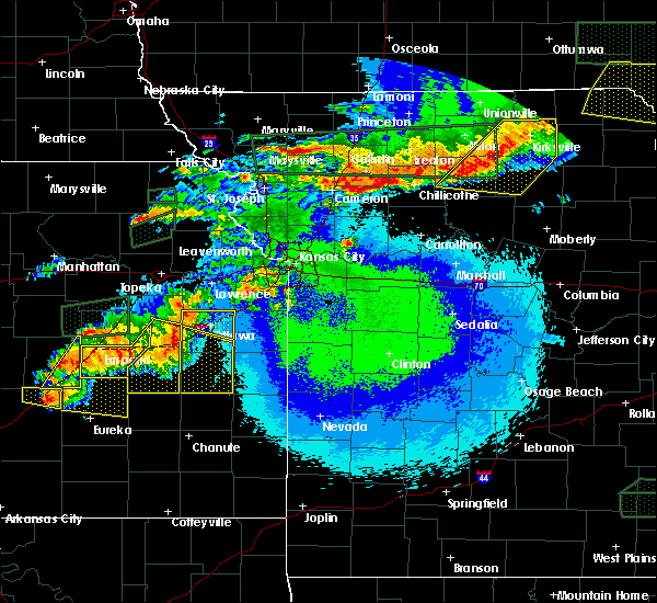 Radar Image for Severe Thunderstorms near Gibbs, MO at 5/14/2020 10:58 PM CDT