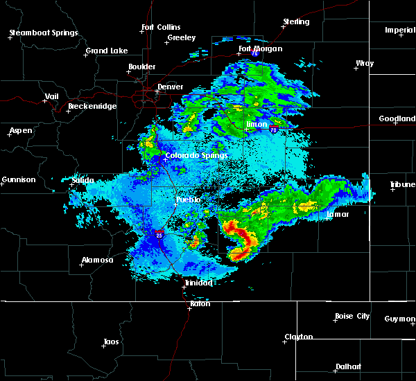 Radar Image for Severe Thunderstorms near North La Junta, CO at 5/14/2020 10:05 PM MDT