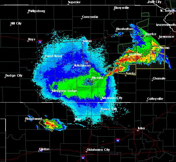 Radar Image for Severe Thunderstorms near El Dorado, KS at 5/14/2020 11:05 PM CDT