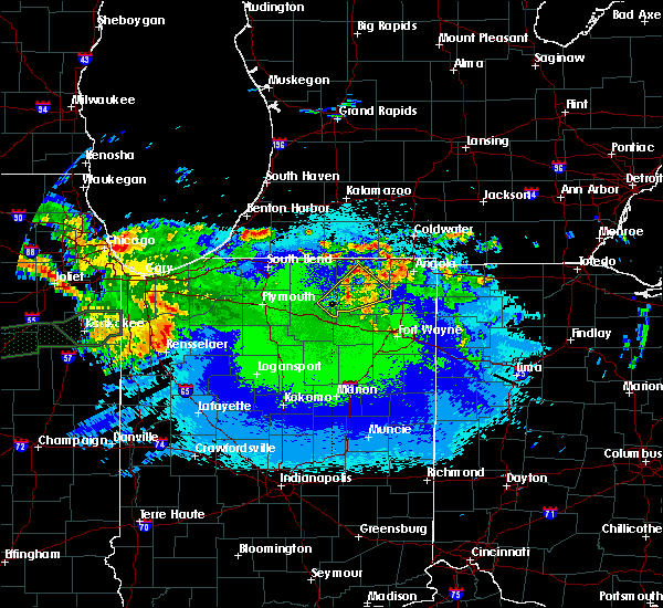 Radar Image for Severe Thunderstorms near Kimmell, IN at 5/15/2020 12:10 AM EDT