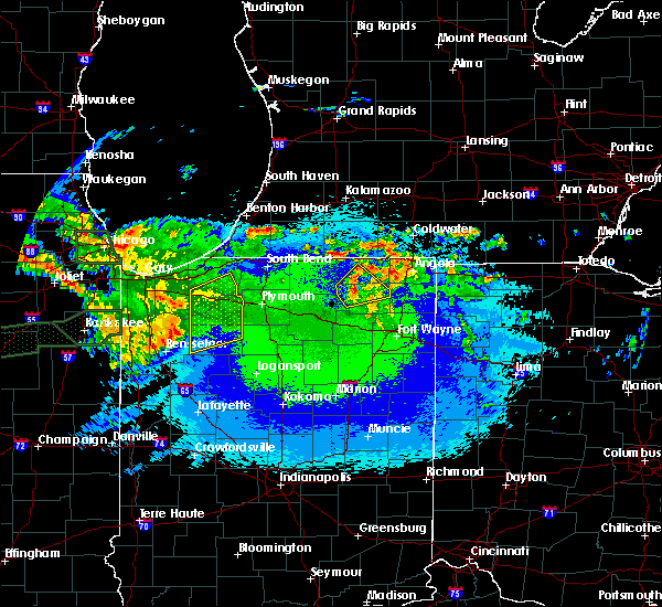 Radar Image for Severe Thunderstorms near La Crosse, IN at 5/14/2020 11:18 PM CDT
