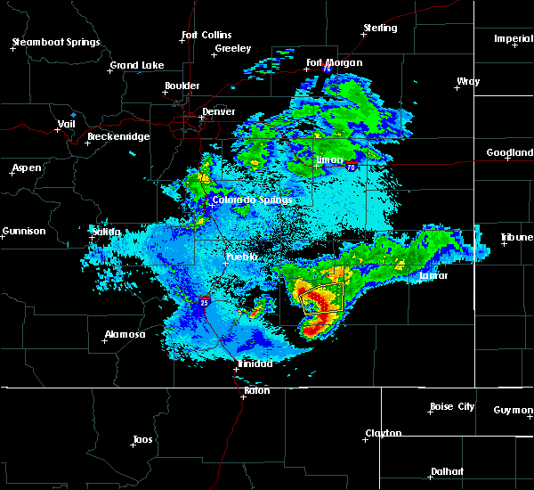 Radar Image for Severe Thunderstorms near North La Junta, CO at 5/14/2020 10:23 PM MDT