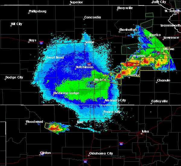 Radar Image for Severe Thunderstorms near El Dorado, KS at 5/14/2020 11:23 PM CDT