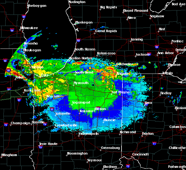 Radar Image for Severe Thunderstorms near Albion, IN at 5/15/2020 12:27 AM EDT