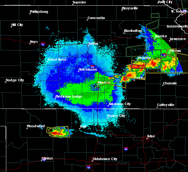 Radar Image for Severe Thunderstorms near Severy, KS at 5/14/2020 11:28 PM CDT