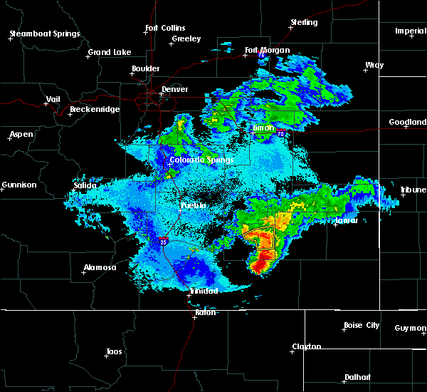 Radar Image for Severe Thunderstorms near North La Junta, CO at 5/14/2020 10:40 PM MDT