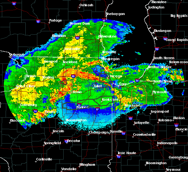 Radar Image for Severe Thunderstorms near Yorkville, IL at 5/14/2020 11:43 PM CDT