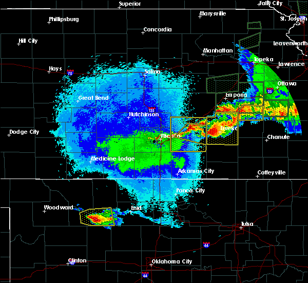 Radar Image for Severe Thunderstorms near Hamilton, KS at 5/14/2020 11:54 PM CDT