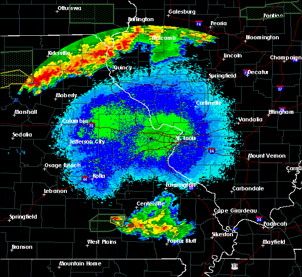 Radar Image for Severe Thunderstorms near Eminence, MO at 5/14/2020 11:55 PM CDT