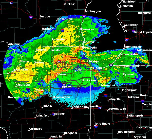 Radar Image for Severe Thunderstorms near Yorkville, IL at 5/15/2020 12:01 AM CDT