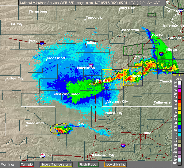 Radar Image for Severe Thunderstorms near Andover, KS at 5/15/2020 12:09 AM CDT