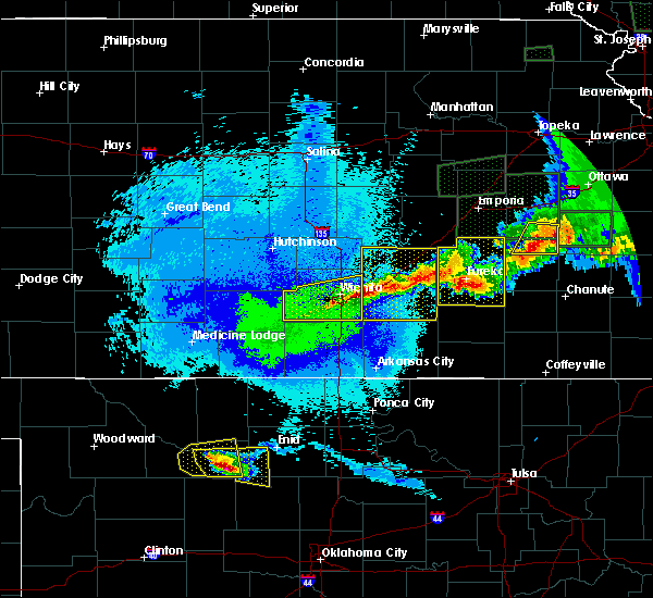 Radar Image for Severe Thunderstorms near Severy, KS at 5/15/2020 12:20 AM CDT