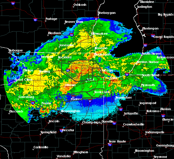 Radar Image for Severe Thunderstorms near Lisle, IL at 5/15/2020 12:22 AM CDT