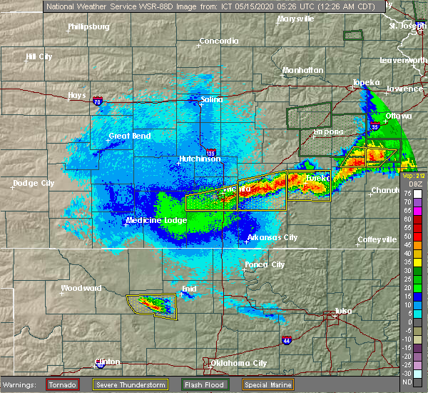 Radar Image for Severe Thunderstorms near Andover, KS at 5/15/2020 12:29 AM CDT