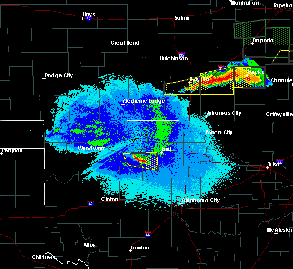 Radar Image for Severe Thunderstorms near Ames, OK at 5/15/2020 12:35 AM CDT