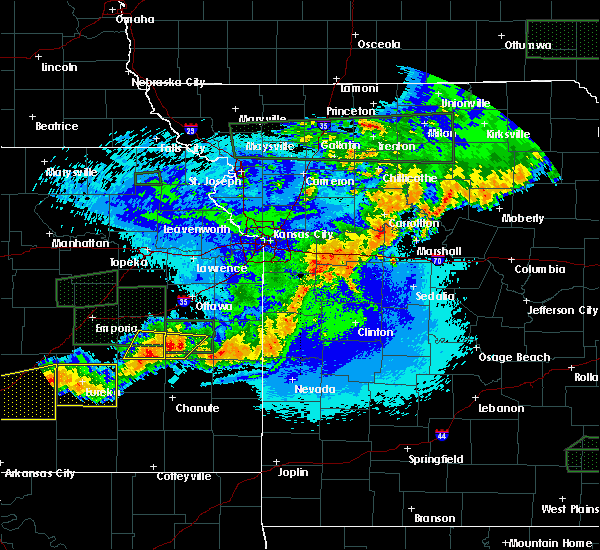 Radar Image for Severe Thunderstorms near Hartwell, MO at 5/15/2020 12:37 AM CDT