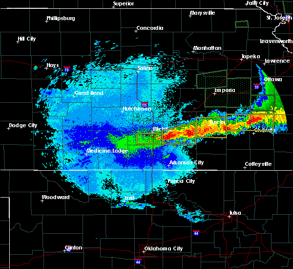 Radar Image for Severe Thunderstorms near Andover, KS at 5/15/2020 1:10 AM CDT