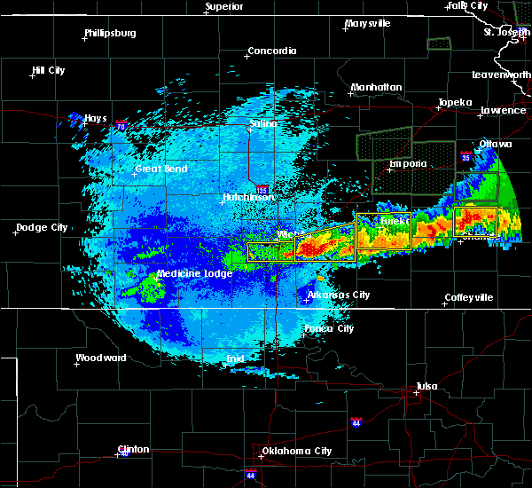 Radar Image for Severe Thunderstorms near Hamilton, KS at 5/15/2020 1:27 AM CDT