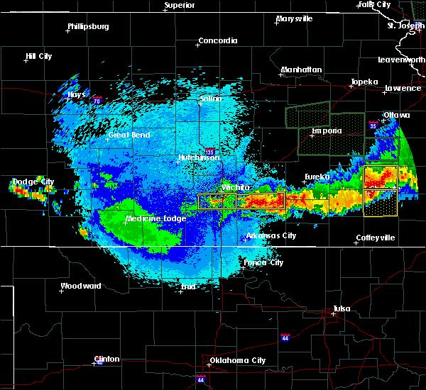 Radar Image for Severe Thunderstorms near Moline, KS at 5/15/2020 2:02 AM CDT