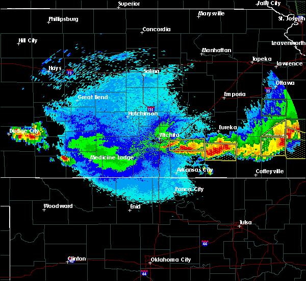 Radar Image for Severe Thunderstorms near Moline, KS at 5/15/2020 2:25 AM CDT