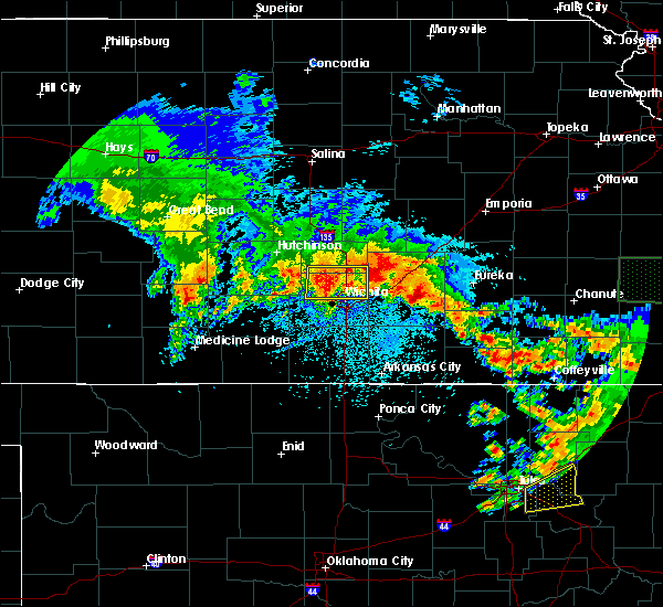 Radar Image for Severe Thunderstorms near Andover, KS at 5/15/2020 6:47 AM CDT