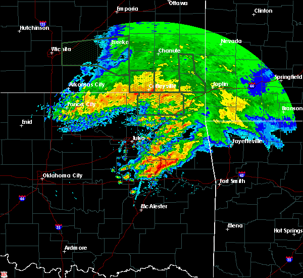 Radar Image for Severe Thunderstorms near Mulberry, OK at 5/15/2020 9:30 AM CDT