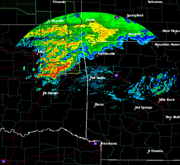 Radar Image for Severe Thunderstorms near Marble City, OK at 5/15/2020 9:53 AM CDT