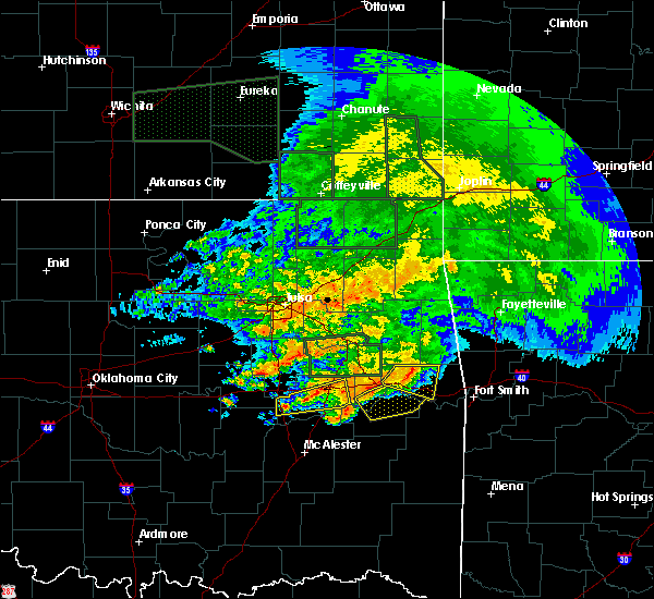 Radar Image for Severe Thunderstorms near Checotah, OK at 5/15/2020 10:54 AM CDT