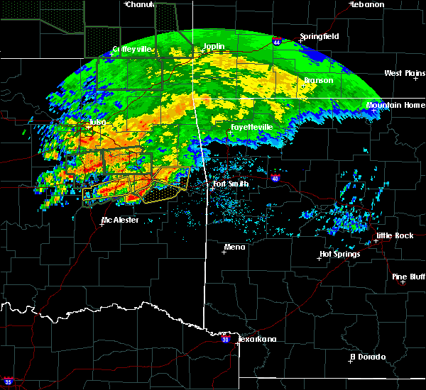 Radar Image for Severe Thunderstorms near Sallisaw, OK at 5/15/2020 11:12 AM CDT
