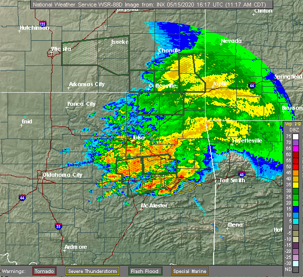 Radar Image for Severe Thunderstorms near Checotah, OK at 5/15/2020 11:20 AM CDT