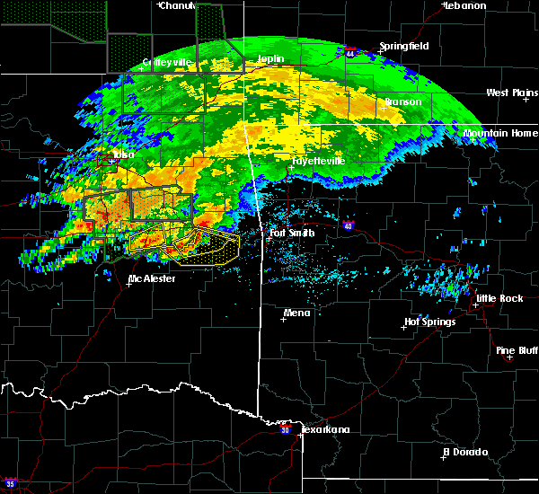 Radar Image for Severe Thunderstorms near Cowlington, OK at 5/15/2020 11:30 AM CDT