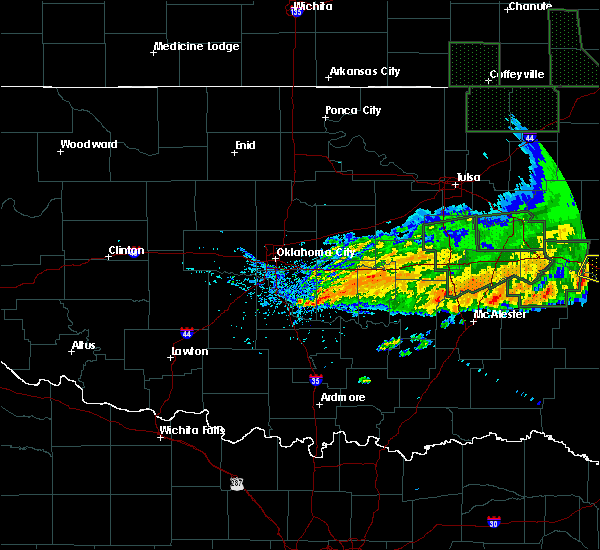 Radar Image for Severe Thunderstorms near Slaughterville, OK at 5/15/2020 12:44 PM CDT