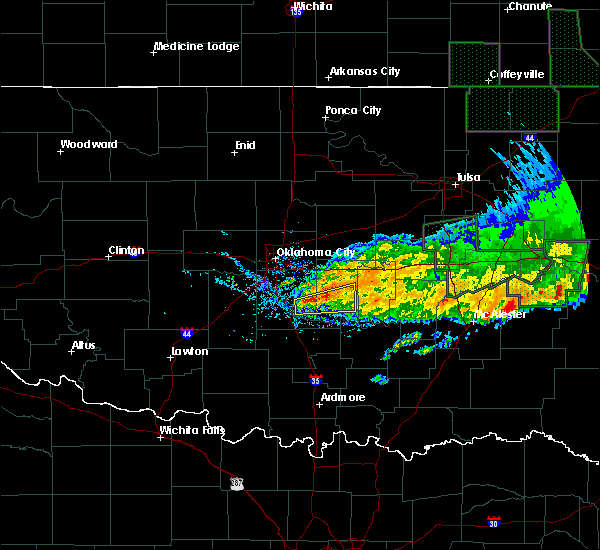 Radar Image for Severe Thunderstorms near Slaughterville, OK at 5/15/2020 1:04 PM CDT