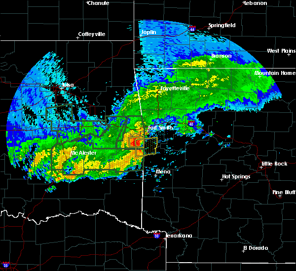 Radar Image for Severe Thunderstorms near Huntington, AR at 5/15/2020 2:52 PM CDT
