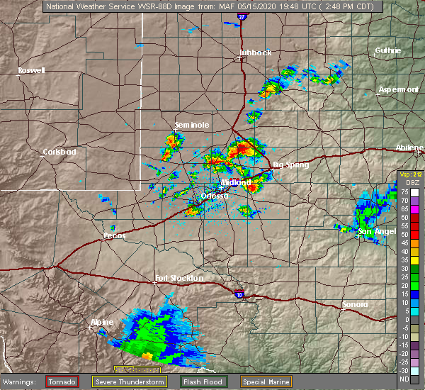 Radar Image for Severe Thunderstorms near Los Ybanez, TX at 5/15/2020 2:53 PM CDT