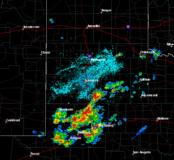 Radar Image for Severe Thunderstorms near Post, TX at 5/15/2020 3:21 PM CDT