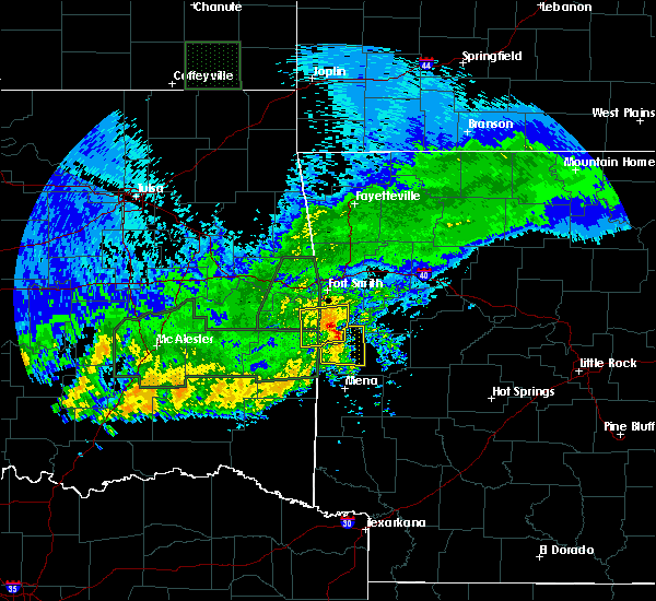 Radar Image for Severe Thunderstorms near Mansfield, AR at 5/15/2020 3:34 PM CDT