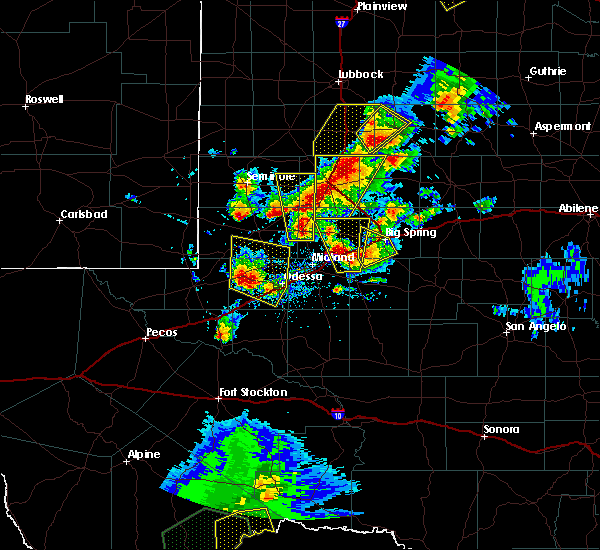 Radar Image for Severe Thunderstorms near Odessa, TX at 5/15/2020 3:40 PM CDT