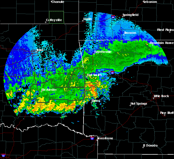 Radar Image for Severe Thunderstorms near Mansfield, AR at 5/15/2020 3:48 PM CDT