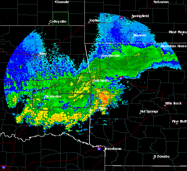 Radar Image for Severe Thunderstorms near Mansfield, AR at 5/15/2020 4:04 PM CDT