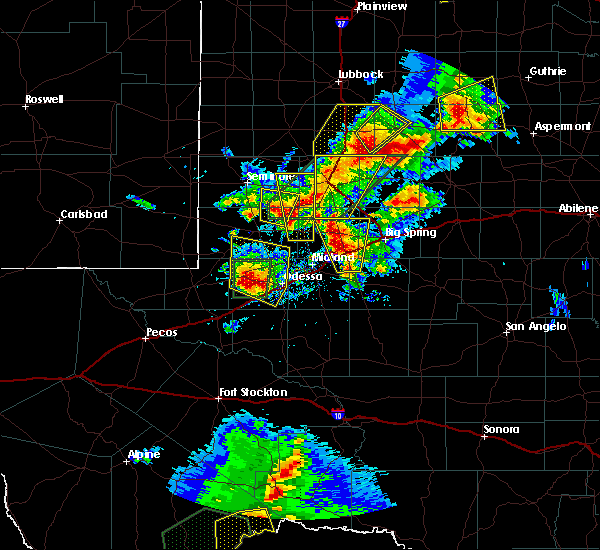 Radar Image for Severe Thunderstorms near Goldsmith, TX at 5/15/2020 4:05 PM CDT