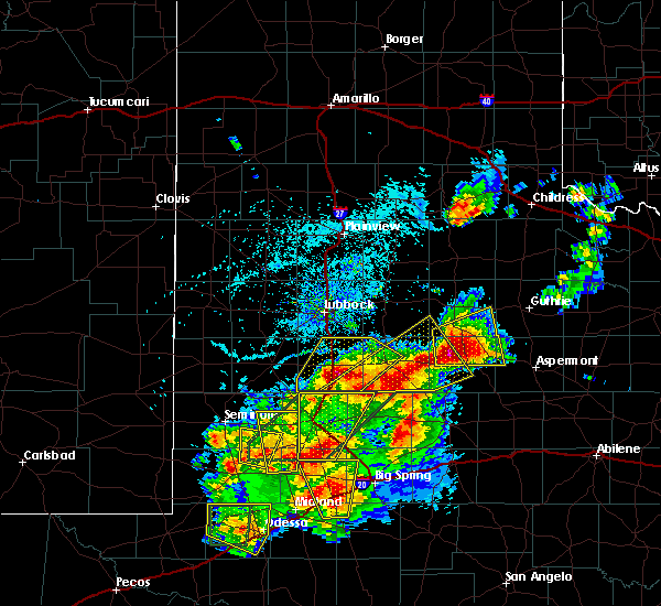 Radar Image for Severe Thunderstorms near Post, TX at 5/15/2020 4:23 PM CDT