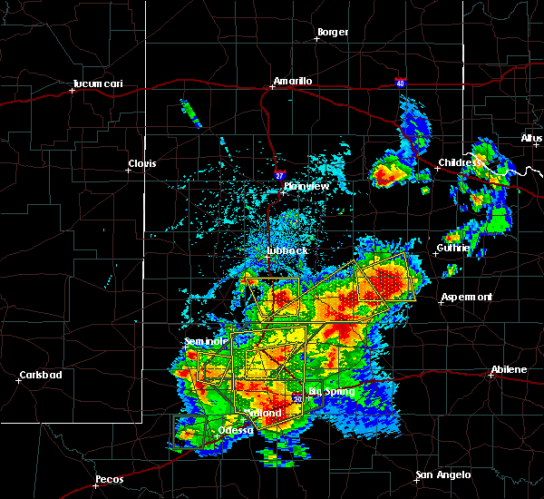 Radar Image for Severe Thunderstorms near Post, TX at 5/15/2020 4:45 PM CDT