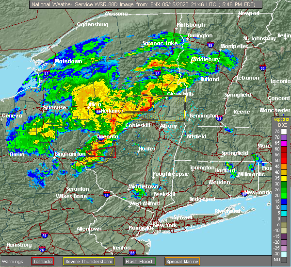 Radar Image for Severe Thunderstorms near Altamont, NY at 5/15/2020 5:51 PM EDT